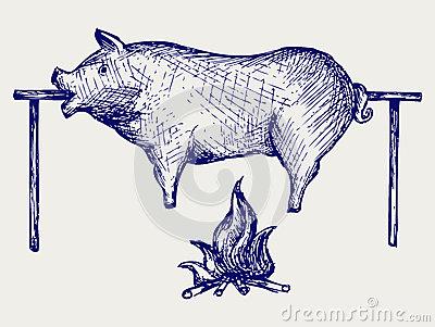 Clip Art Pig Roast Clip Art pig spit clipart kid funny roast clip art roasted 28588339 jpg