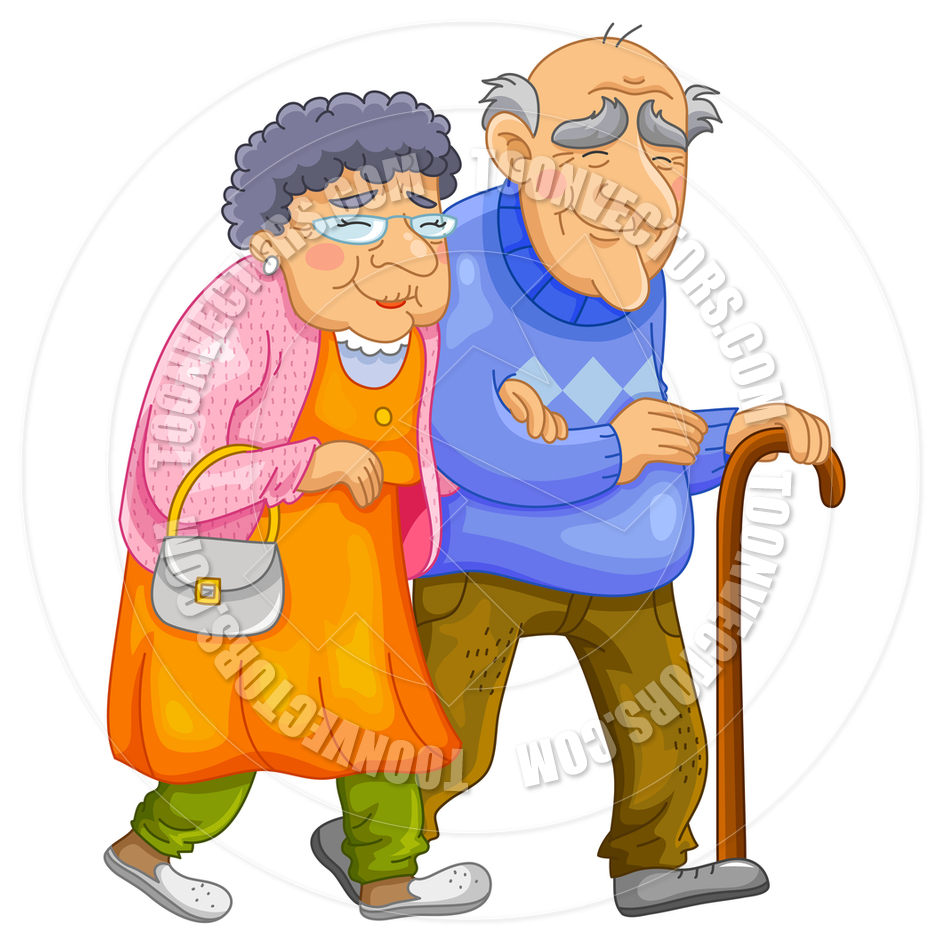 Happy Old Couple By Ayelet Keshet   Toon Vectors Eps  81100