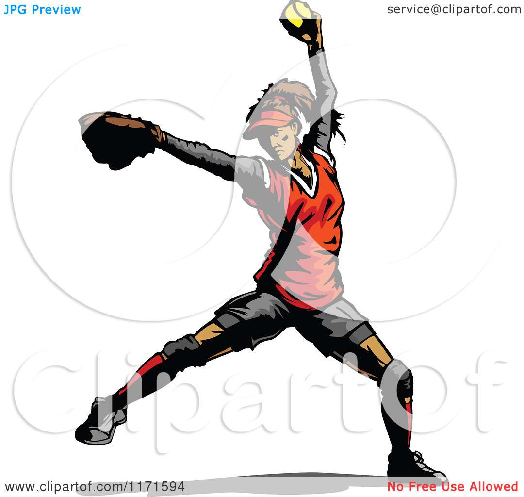 Related Softball Pitcher Clipart Softball Pitcher Outline Softball