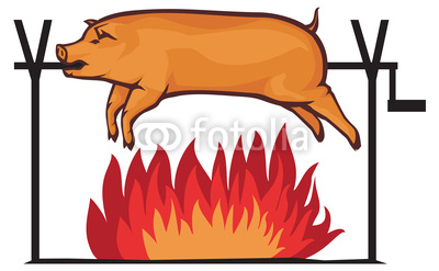 Clip Art Pig Roast Clip Art pig spit clipart kid roasted stock image and royalty free vector files on fotolia com