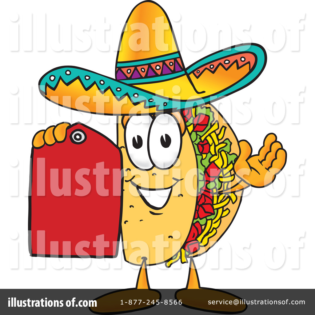 Royalty Free Rf Taco Clipart Illustration By Toons4biz Stock