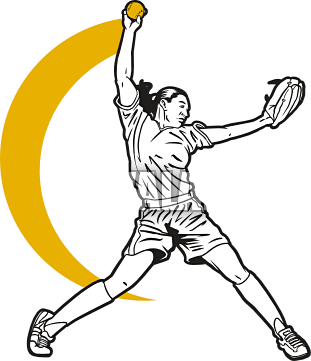 Softball Pitcher Clipart - Clipart Kid