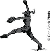 Softball Illustrations And Clipart  2619 Softball Royalty Free