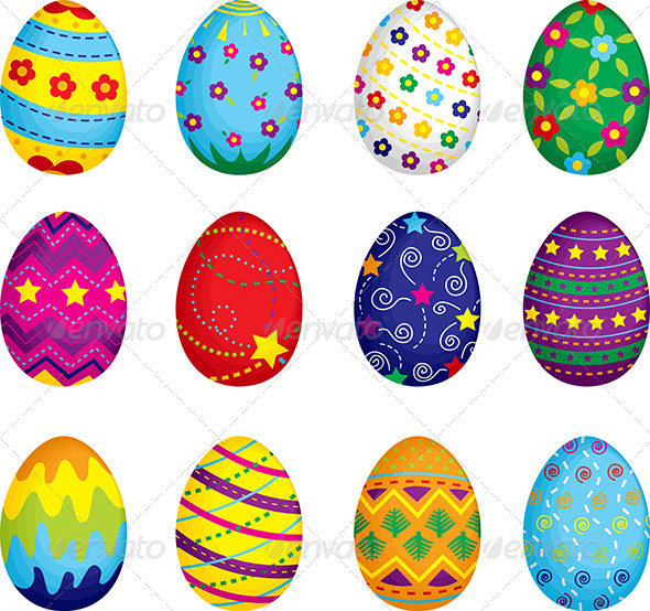 Stock Vector   Graphicriver Easter Eggs 6061629   Dondrup Com