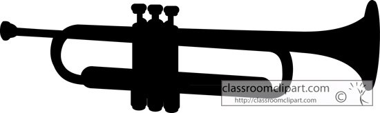 Trumpet Silhouette Clipart - Clipart Kid