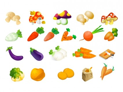 Vegetable Clip Art Of Three Free Vector In Adobe Illustrator Ai    Ai