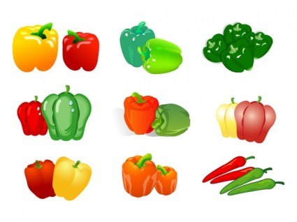 Vegetable Clip Art Of Two Pepper Free Vector In Adobe Illustrator Ai