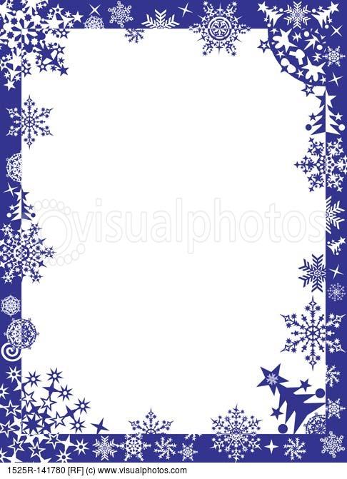 Winter Page Borders Winter Borders Snowflake Border Clip Art Winter