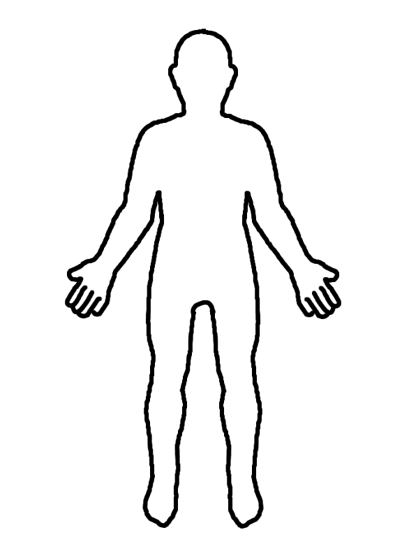 11 Human Body Outline Template Free Cliparts That You Can Download To