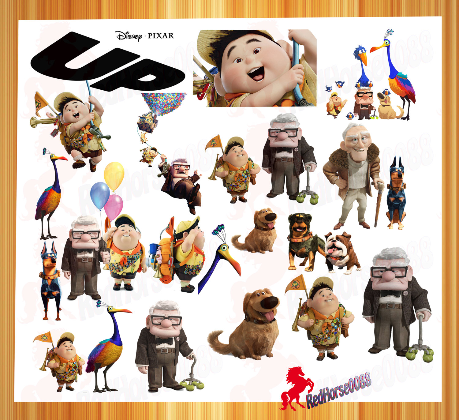 20 Disney Pixar Up Characters Png Images Files For By Redhorse0088