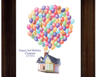 Birthday Gift House Up Guest Book I Deas Birthday Guest Sign In Disney