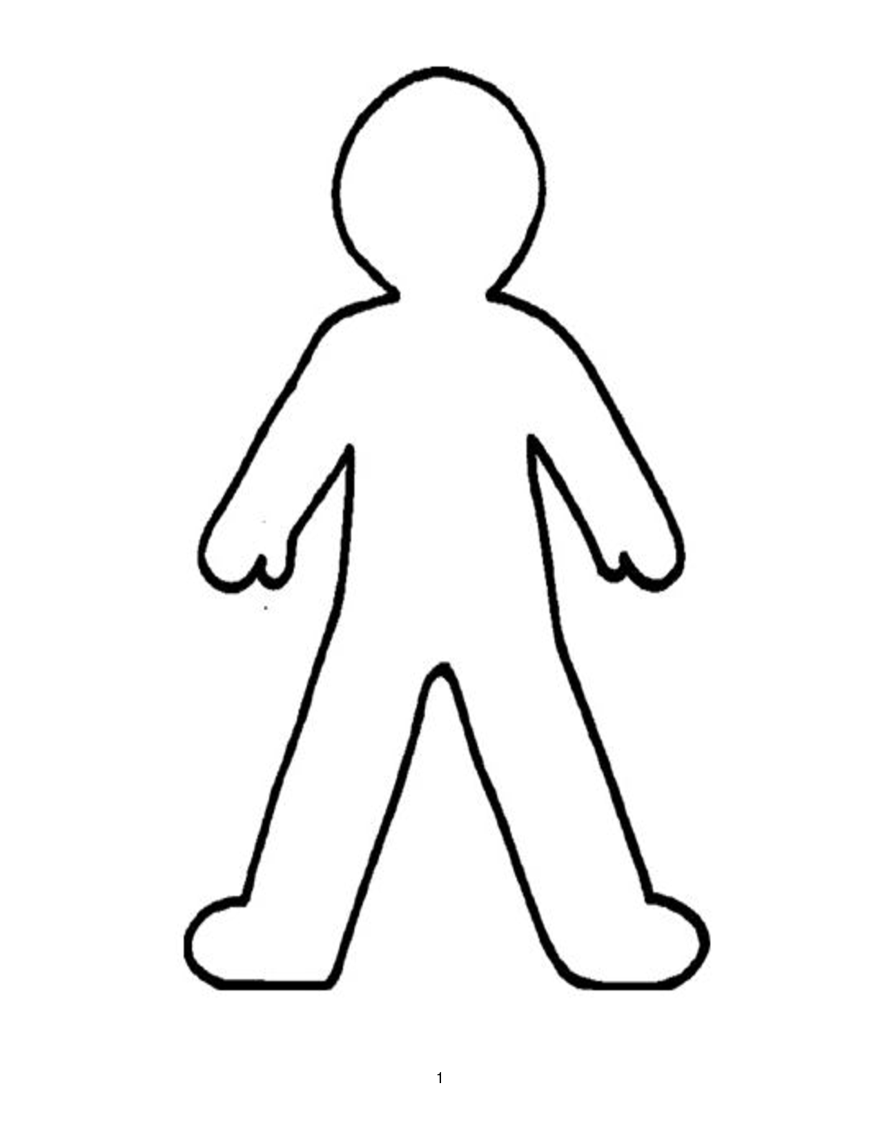 Body Outline Clipart - Clipart Kid