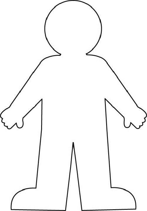 human body outline clipart clipart kid