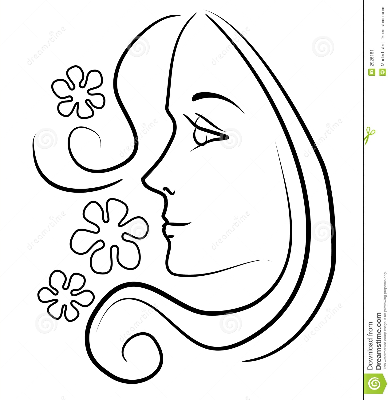 Line Drawing Of Face Profile : Women s faces clipart suggest