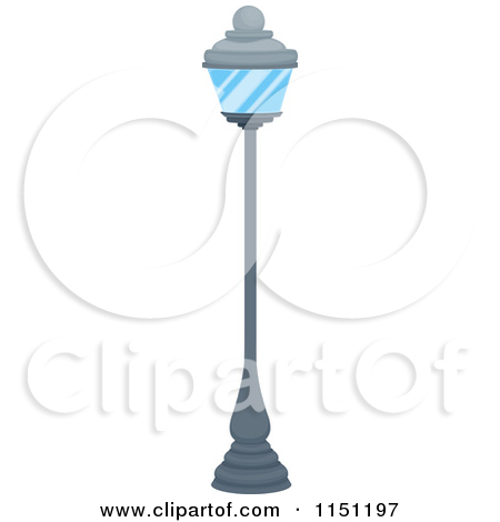 Clipart Of A Street Lamp   Royalty Free Vector Clipart By Iimages