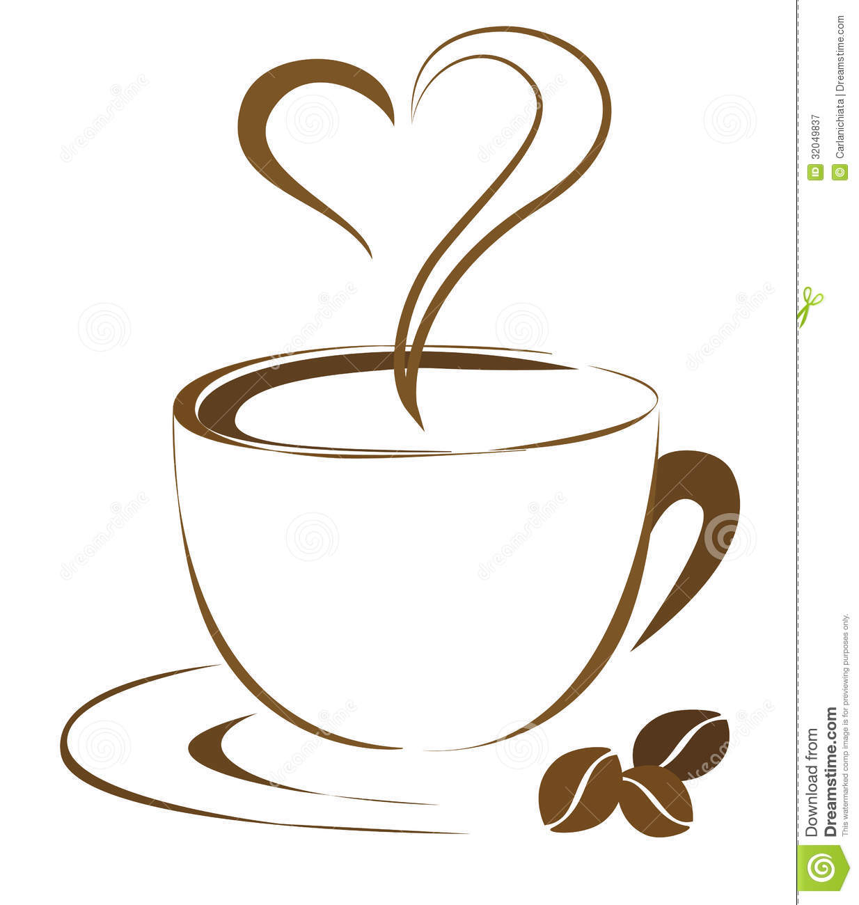 Coffee Heart Royalty Free Stock Photography   Image  32049837