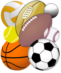 Collection Of Balls Used In Various Sports