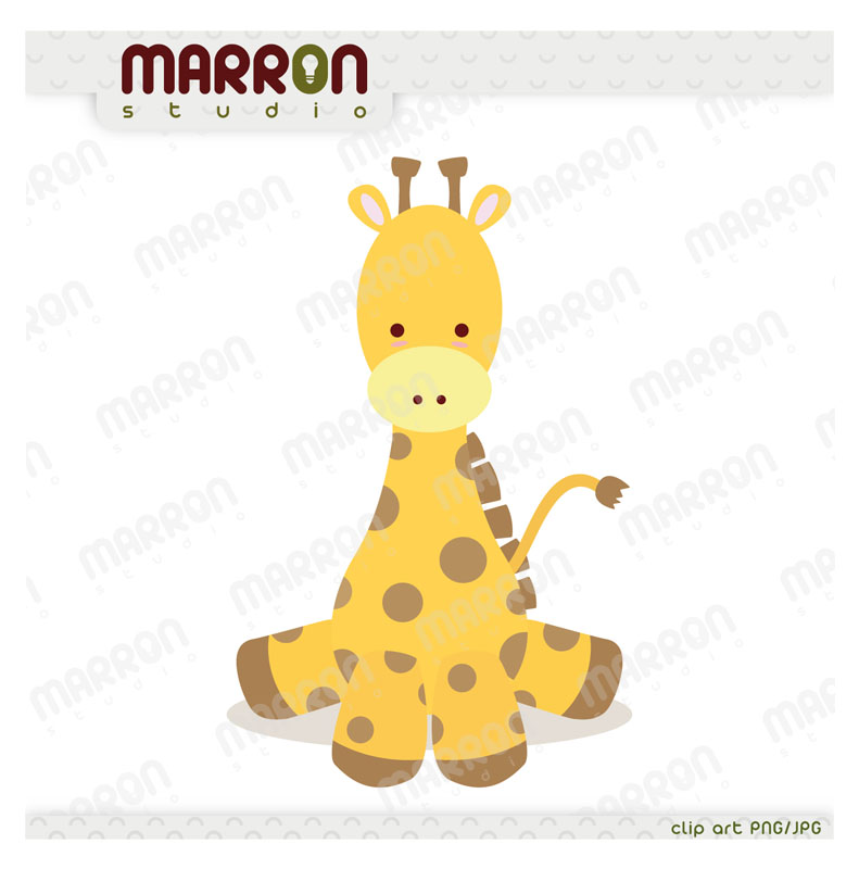 Cute Baby Giraffe Kawaii Style Clipart On Storenvy