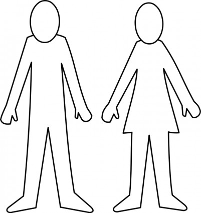 Female Body Outline Template   Clipart Best