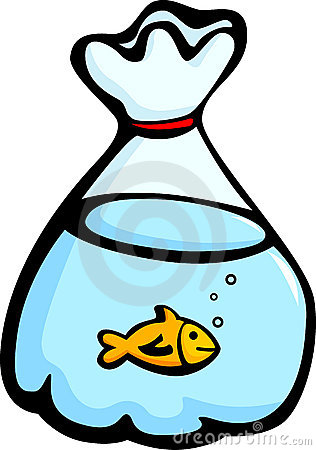 Fish In A Plastic Bag Vector Illustration Stock Images   Image