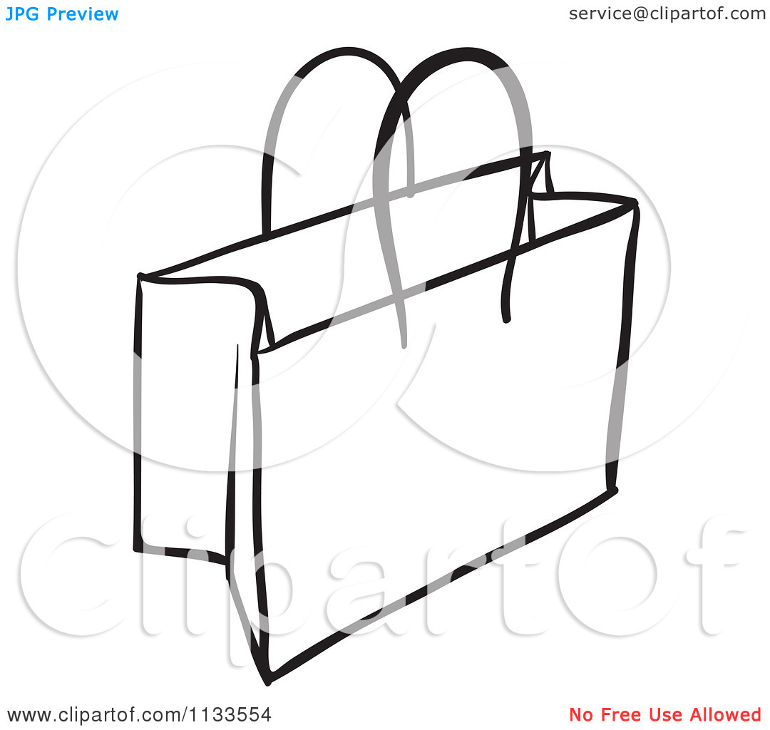 Gift Bag Clipart Black And White   Clipart Panda   Free Clipart Images