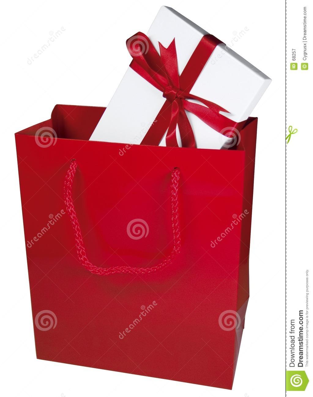 Gift bag clipart red k hep kid