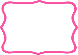 hot pink frame clip art at clker com vector clip art online royalty