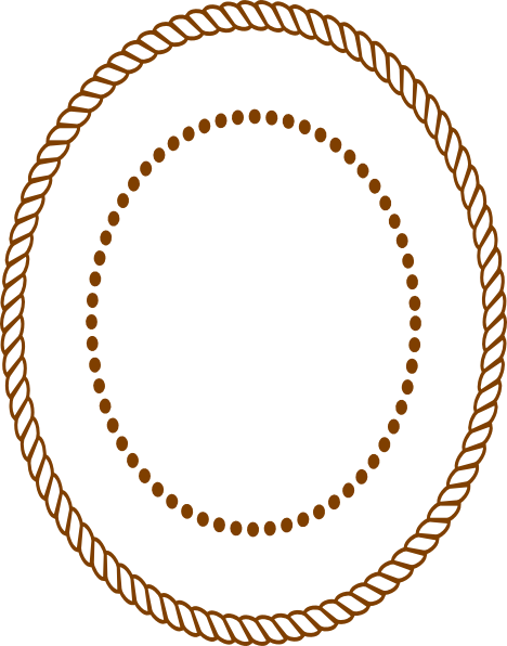 Oval Rope Border   Brown Clip Art At Clker Com   Vector Clip Art