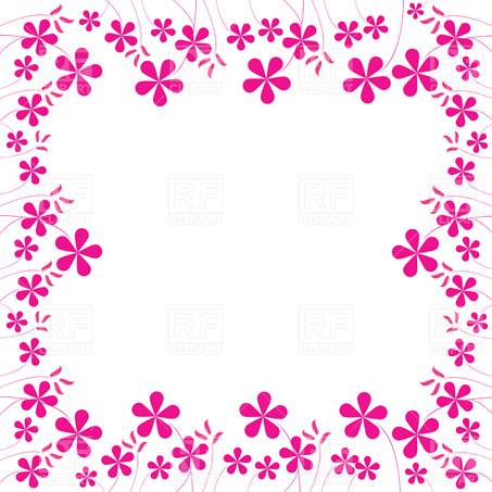 Pink Flowers Frame 3612 Borders And Frames Download Royalty Free