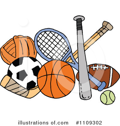 Sports Clipart  1109302   Illustration By Lafftoon