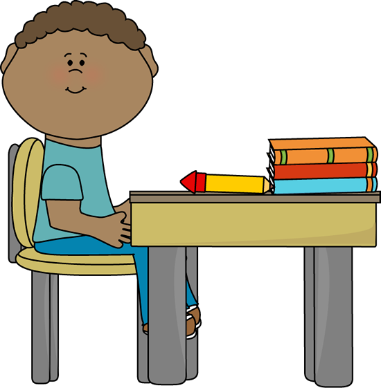 Sitting At Desk Clipart - Clipart Kid