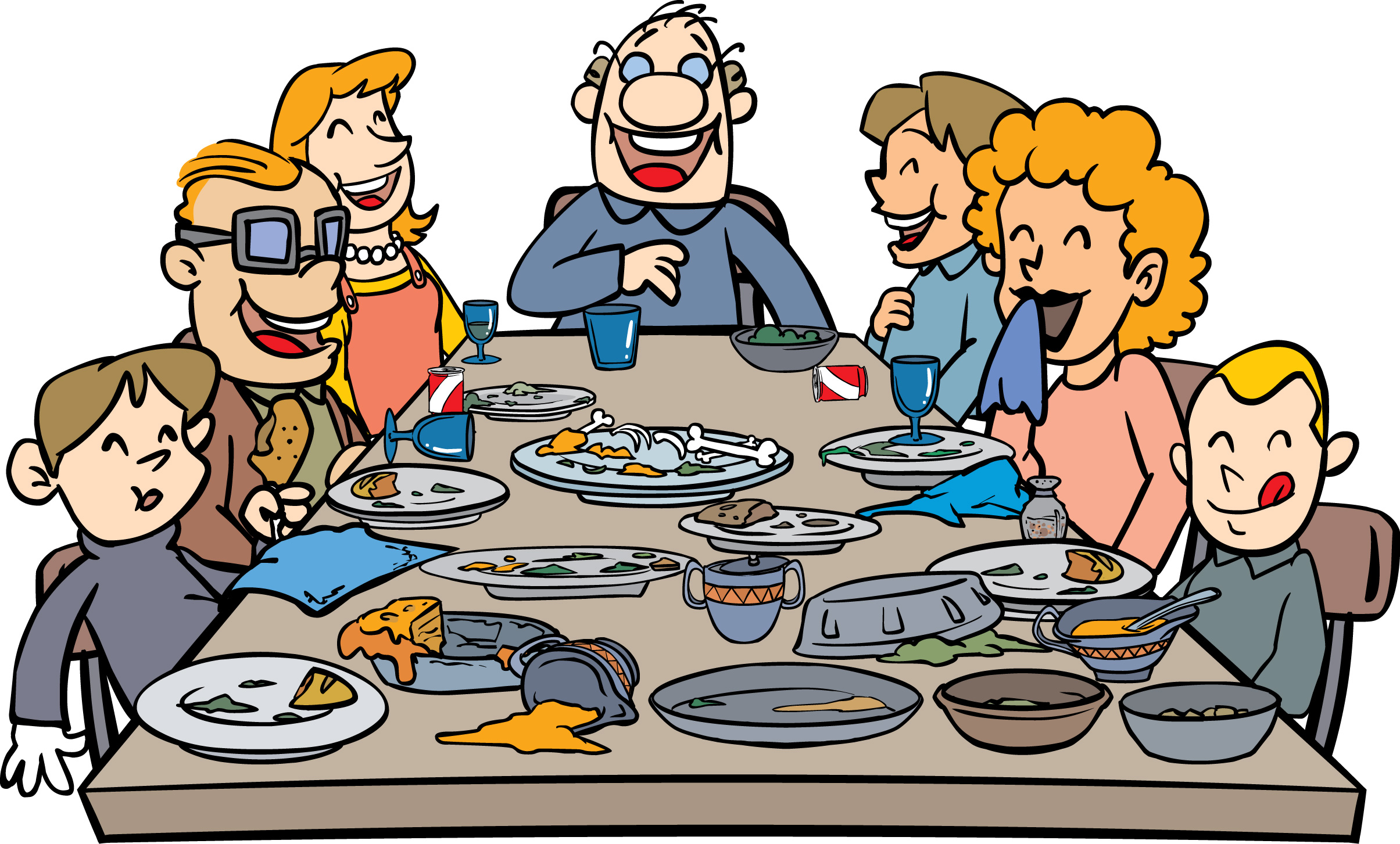 Thanksgiving Family Dinner Clip Art