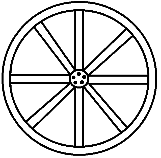 Wagon Wheel Clip Art