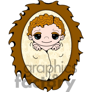 Baby Jesus In A Blanket Clipart