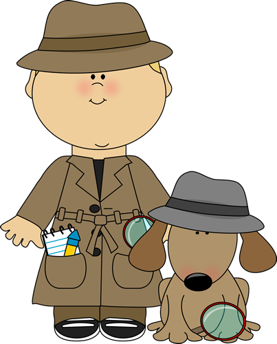 Boy Detective And Dog Clip Art   Boy Detective And Dog Image