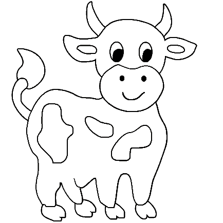 Cow printable clipart clipart suggest for Coloring pages of cows free printable