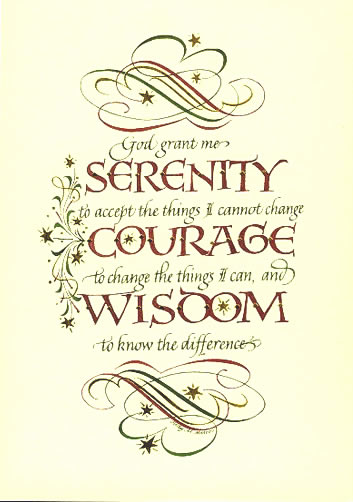 De Stress Vets  Inspiring Quote Of The Week  Serenity Prayer