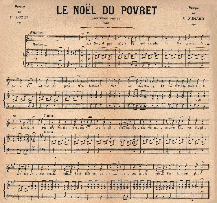 Found This Wonderful Piece Of French Christmas Sheet Music In An Old