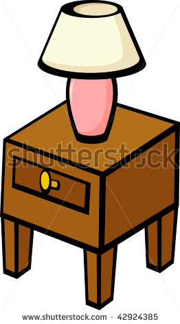 Clip Art Red Night Stand