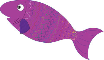 Purple Fish Clipart - Clipart Suggest