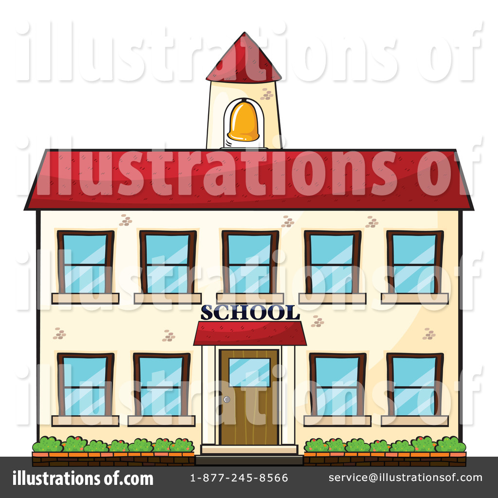 Royalty Free  Rf  School Building Clipart Illustration By Colematt