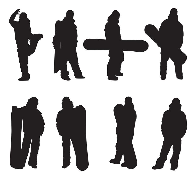 Watch more like Snowboarder Standing Silhouette Vector Art