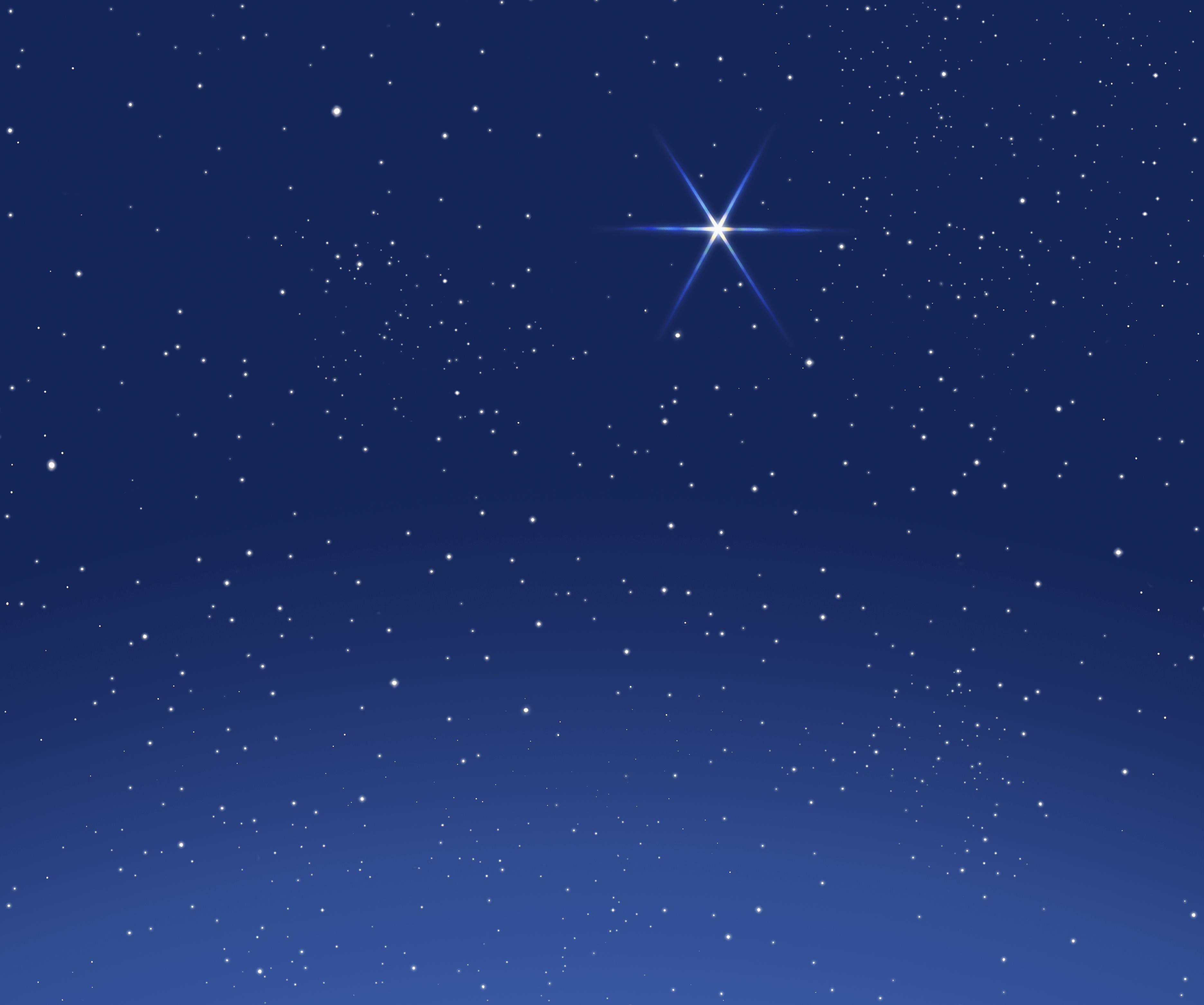 christmas night sky clipart -#main