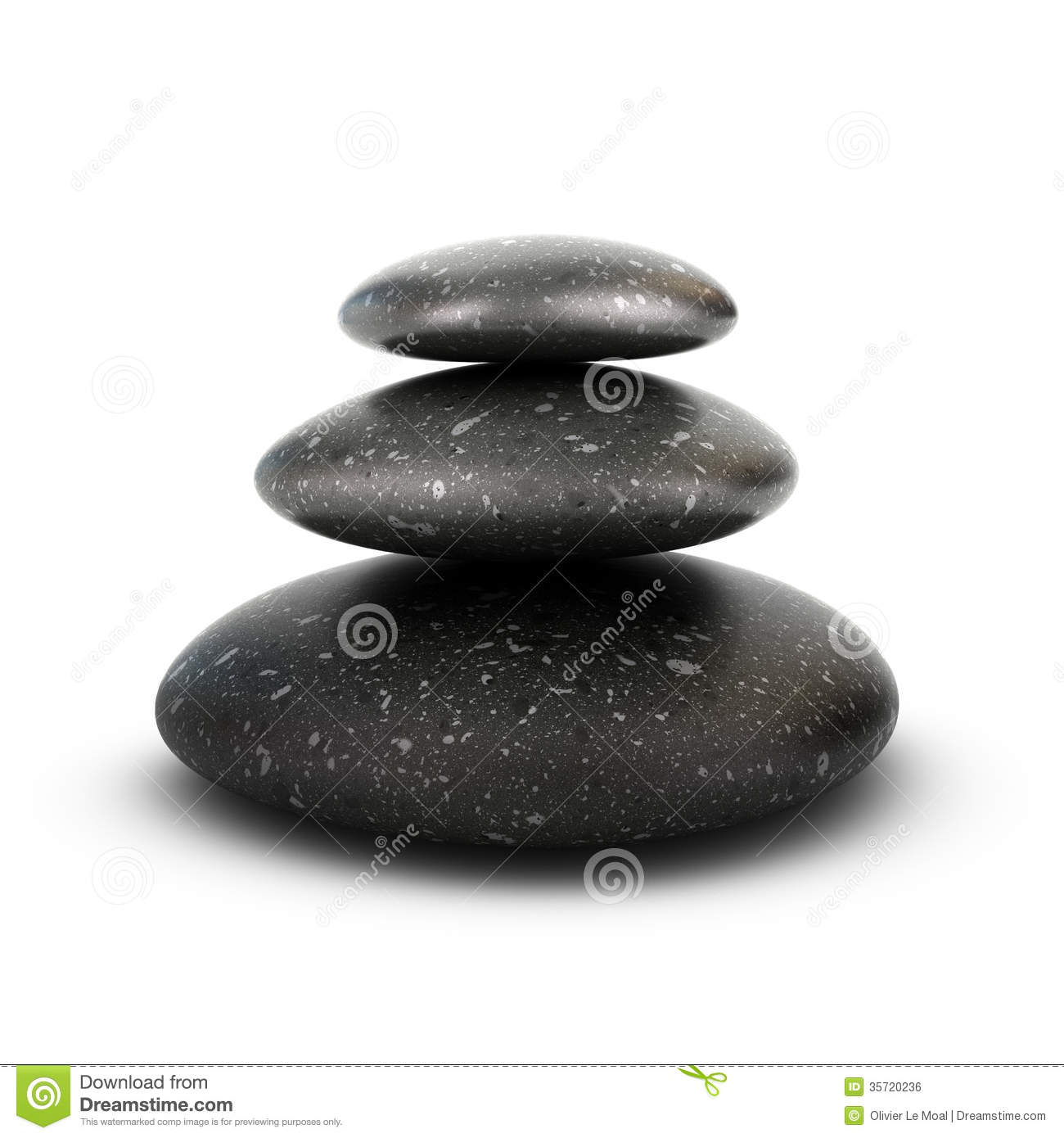 Three Pebbles Stacked Serenity Concept Royalty Free Stock Image