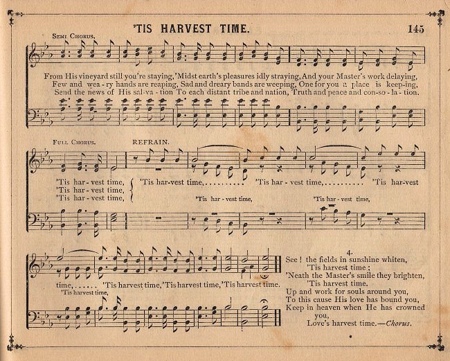 Vintage Graphic For Your Fall Projects  This Piece Of Old Sheet Music