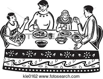Black Family Dinner Clipart - Clipart Kid