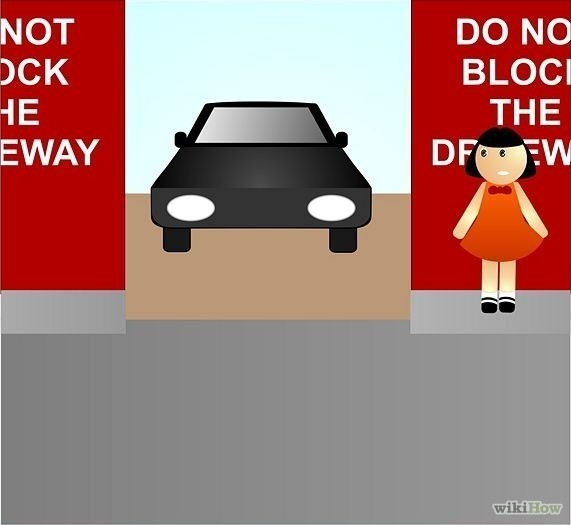 Children To Be Attentive And Aware When Crossing Between Parked Cars