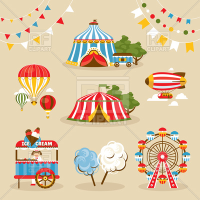 Country Fair Objects 93702 Download Royalty Free Vector Clipart  Eps