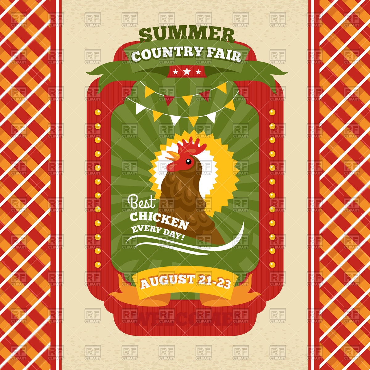 Country Fair Vintage Invitation Card With Rooster 93697 Download