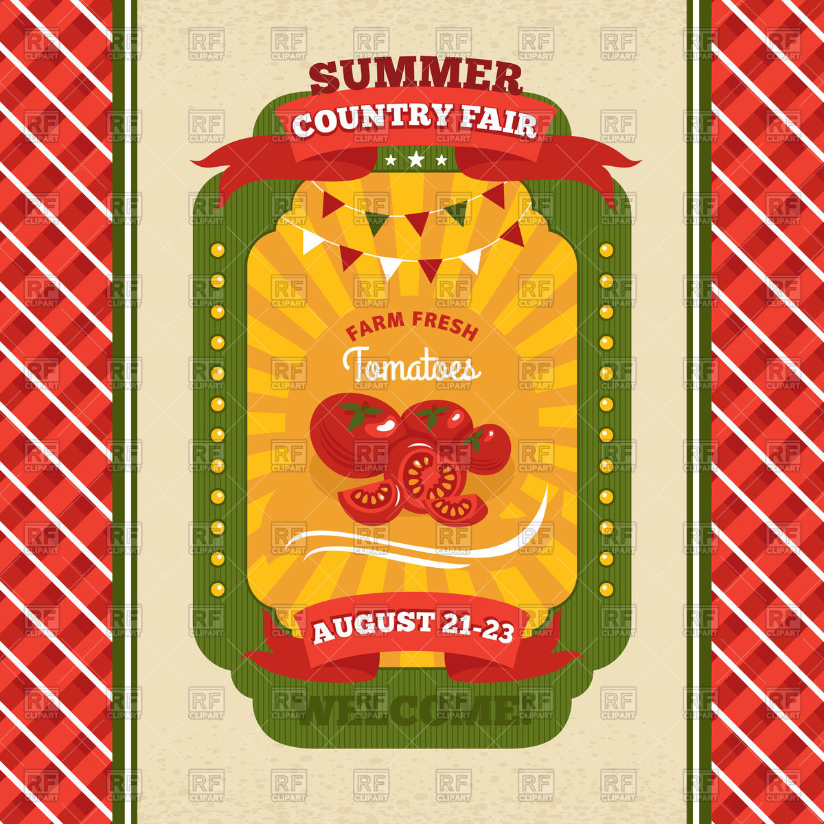 Country Fair Vintage Invitation Card With Tomatoes 93696 Calendars
